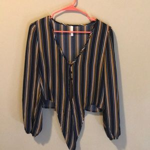 striped multi color top from xhilaration